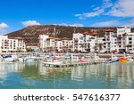 boats at the marina harbour in... | Shutterstock . vector #547616377