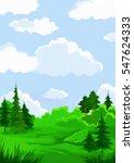 landscape  summer green forest... | Shutterstock . vector #547624333