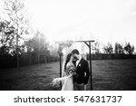 happy bride and groom after... | Shutterstock . vector #547631737