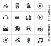 set of 16 editable song icons....