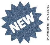 new sticker grainy textured... | Shutterstock .eps vector #547635787
