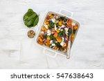 k  rbis gebraten mit babyspinat ... | Shutterstock . vector #547638643