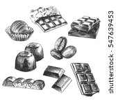 hand drawn set of different...   Shutterstock .eps vector #547639453