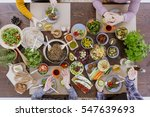 various vegan and vegetarian... | Shutterstock . vector #547639693