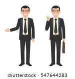 vector illustration of a young... | Shutterstock .eps vector #547644283