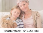 ill woman with headscarf... | Shutterstock . vector #547651783