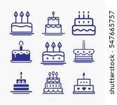 cake icon symbol set. different ... | Shutterstock .eps vector #547665757