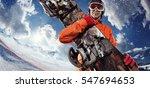 sports background. snowboard... | Shutterstock . vector #547694653