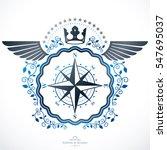vintage emblem  heraldic design. | Shutterstock . vector #547695037