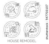 house remodel horizontal banner.... | Shutterstock .eps vector #547703107