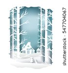 paper art landscape of... | Shutterstock .eps vector #547704067