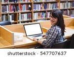 portrait of smiling female...   Shutterstock . vector #547707637