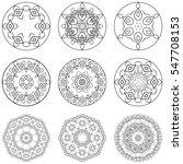 set of mandalas. decorative... | Shutterstock .eps vector #547708153