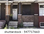 an abandoned home in baltimore. | Shutterstock . vector #547717663