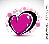 love and romance symbolic... | Shutterstock . vector #547719793