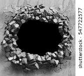 destruction of concrete old... | Shutterstock . vector #547722577