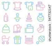 colorful linear icons set of... | Shutterstock .eps vector #547732147