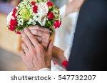 wedding bouquets  close up. | Shutterstock . vector #547732207