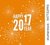 creative happy new year 2017... | Shutterstock .eps vector #547732993