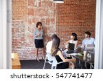 mature businesswoman standing... | Shutterstock . vector #547741477
