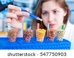 girl in the laboratory of food... | Shutterstock . vector #547750903
