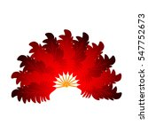 colorful red feather fan... | Shutterstock .eps vector #547752673