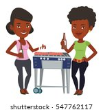 african female friends at... | Shutterstock .eps vector #547762117