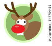 christmas deer flat icon | Shutterstock .eps vector #547764493