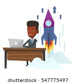 young african businessman... | Shutterstock .eps vector #547775497