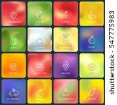 vector blurred backgrounds.... | Shutterstock .eps vector #547775983