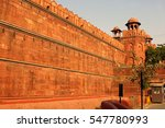 A Wall Of Red Fort Or Lal Qila...