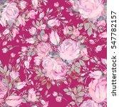 seamless pattern bouquet bud... | Shutterstock . vector #547782157
