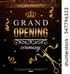 shiny grand opening background... | Shutterstock .eps vector #547796323
