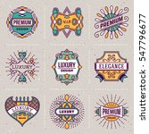 luxury royal insignias retro... | Shutterstock .eps vector #547796677