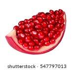 pomegranate isolated on white... | Shutterstock . vector #547797013