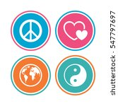 world globe icon. ying yang... | Shutterstock .eps vector #547797697