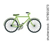 green bicycle icon in cartoon... | Shutterstock .eps vector #547801873