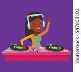 an african american dj in... | Shutterstock .eps vector #547803103