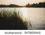 Beautiful Sunset On A Lake Wit...