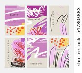 rough textured strokes floral... | Shutterstock .eps vector #547806883