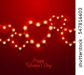 valentine s day background.... | Shutterstock .eps vector #547816603