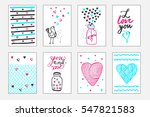 cute gift tags. set of hand... | Shutterstock .eps vector #547821583