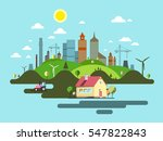 flat design city. abstract... | Shutterstock .eps vector #547822843