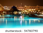 resort pool at evening | Shutterstock . vector #54783790