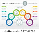 vector template of a infochart  ... | Shutterstock .eps vector #547842223