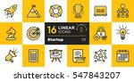 vector collection of line icons ... | Shutterstock .eps vector #547843207