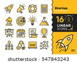 vector collection of line icons ... | Shutterstock .eps vector #547843243