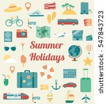 travel icons set. flat design... | Shutterstock .eps vector #547843723