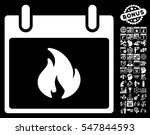 flame calendar day pictograph...   Shutterstock .eps vector #547844593