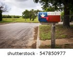 Mailbox Painted With The Texas...
